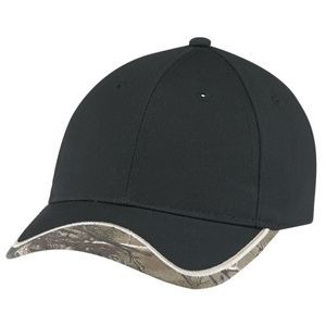 6 Panel Camouflage Hunting Cap w/Contrast Trim (Mossy Oak® Break-Up® or Realtree®)