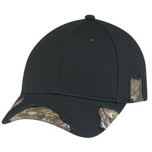 Brushed Polycotton/Deluxe Chino Twill Enzyme Washed Cap (Mossy Oak Break Up® or Realtree®)