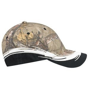 Constructed Full Fit 6 Panel Brushed Polycotton Camouflage Cap (Mossy Oak Break-Up® or Realtree®)